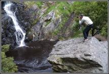 Ray on a rock - Ingalalla Falls