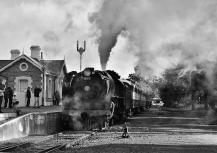 James Allan -B&W Blast of Steam