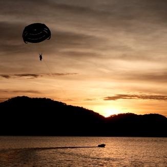 Ashley Hoff - Dusk para-sailing (open)