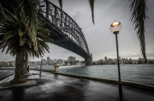Chris Schultz - Sydney Harbour Bridge in the rain - Colour
