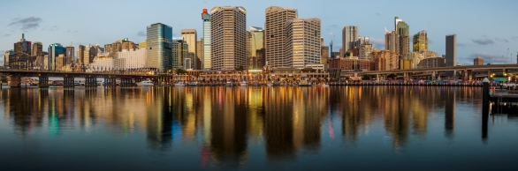 Dusk at Darling Harbour - Anthony Kernich
