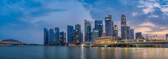 Singapore Blue Hour - Anthony Kernich