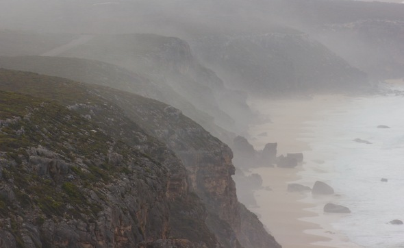 Heather Connolly foggy cliffs