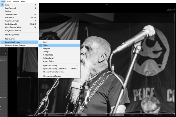 Cropping options in Lightroom