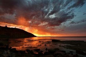 Sunset through the Rain - Helen Whitford