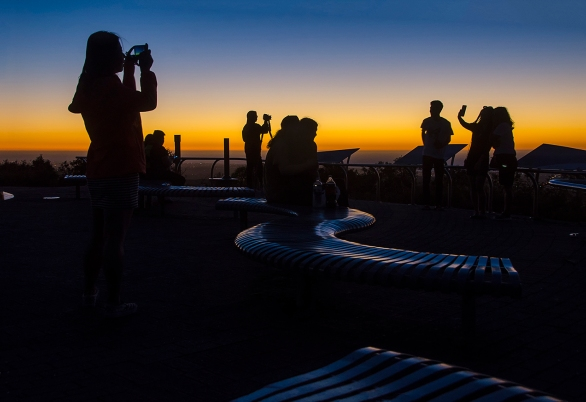 Dusk at Mt Lofty - James Allan