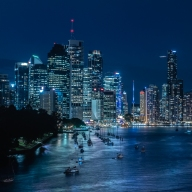 Brisbane at Night - Judy Sara