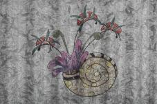 Kerry Malec - Snail Shell Drawing on Mini Orb