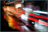 James Allan - Zooming on Traffic on a Wet Night